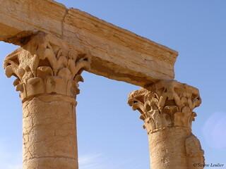 Palmyre : Arc, collannades et tétrapyle