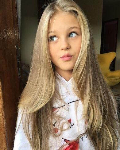 Um this 7 year old has hair goals