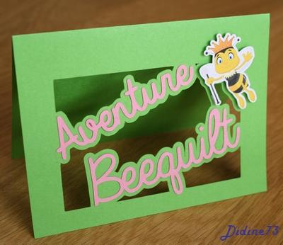 Aventure beequilt - août - carte logo