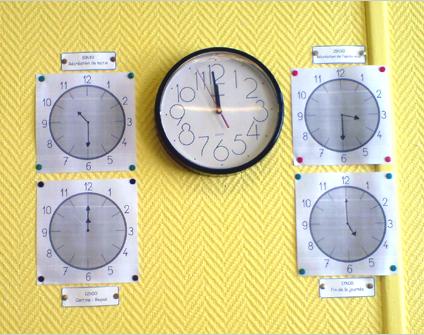 Structurer le temps : l'horloge