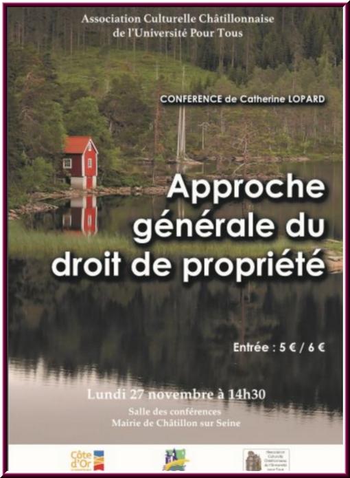 L'approche du  droit de propriété, une conférence de l'ACC
