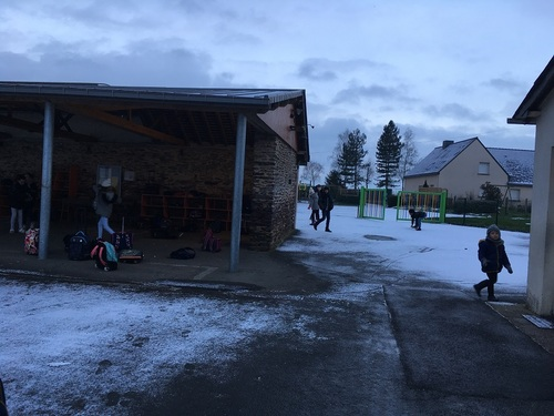 Saint-Guénolé sous la neige !