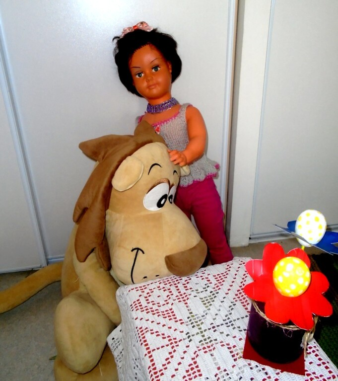 Martine et Big lion