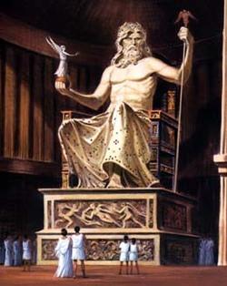 La statue de Zeus à Olympie