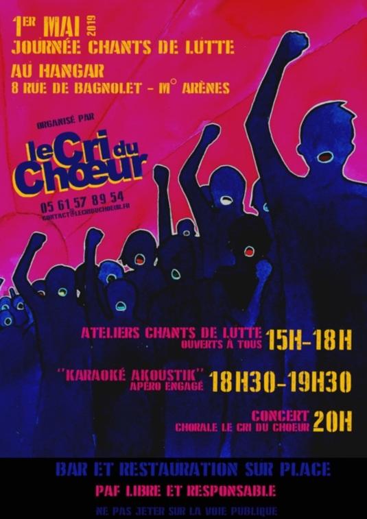 """Et le 1er Mai : Chorale """"le cri du chœur"""""""