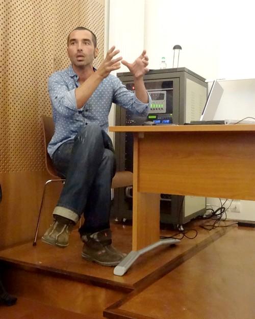Sébastien Chevrier de L'INRAP, a présenté une conférence sur les origines de la vigne à Gevrey-Chambertin(Côte d'Or)