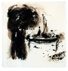 Ziad Dalloul de la peinture à la gravure.