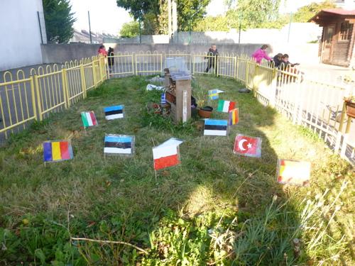 Les drapeaux de nos partenaires européens du projet Erasmus +