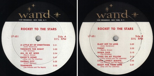 ROCKET TO THE STARS - JOCKO HENDERSON - WAND RECORDS