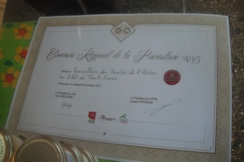 Médaille d'Argent à la G.A.E.C des truites de l'Aube