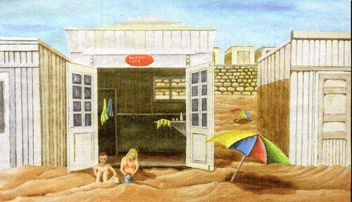 Publicitaires et peintres inspirés par la plage et ses chalets
