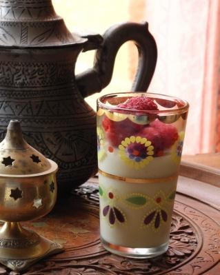 Crèmes au chocolat blanc et au thé du Hammam
