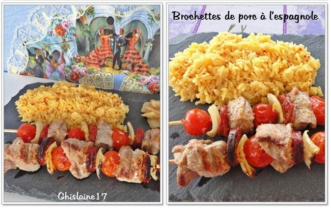 Brochettes de porc à l'espagnole
