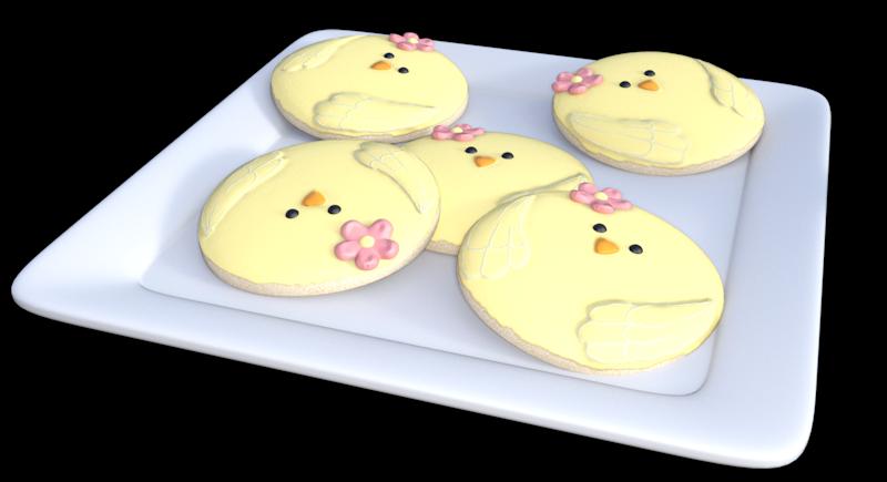 Tube assiette de gâteaux de Pâques (render-image)