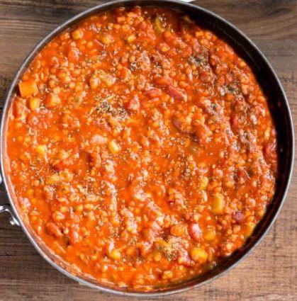 Spaghetti à la sicilienne.