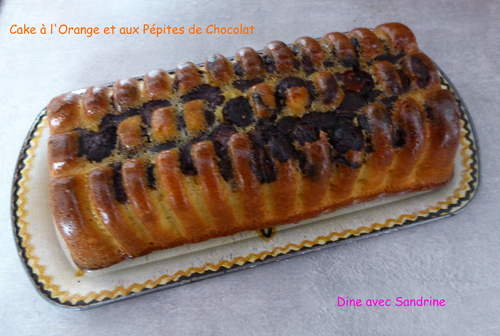 Le Cake à l'Orange et aux Pépites de Chocolat de Sophie Dudemaine