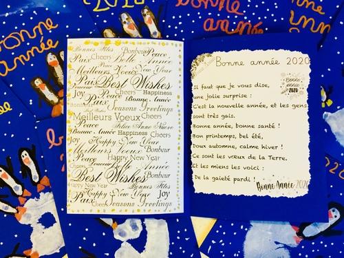 Carte de vœux pingouins