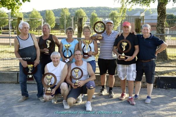Fédération - Championnat individuel vétérans 2018