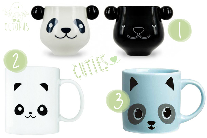 mugs mignons cute kawaii - panda La geekerie / H&M - Magic Octopus blog