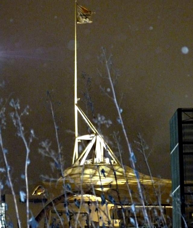 Centre Pompidou Metz neige nuit 15 20 12 09