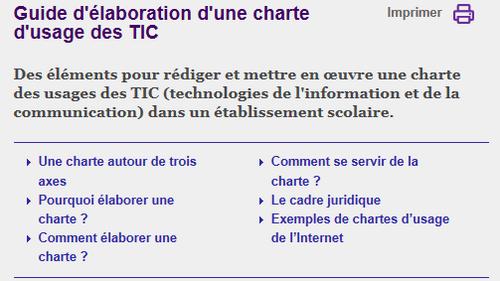 Charte internet, eduscol, écrire, pourquoi, comment,