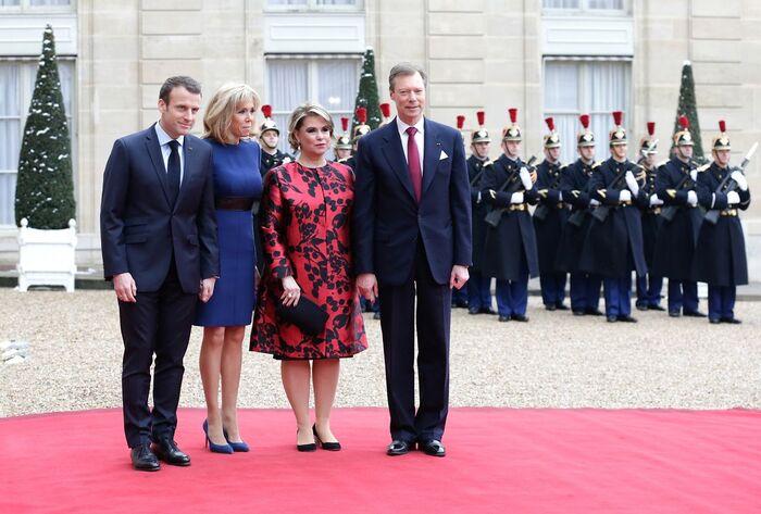Le Grand Duc et la Grande Duchesse du Luxembourg à Paris