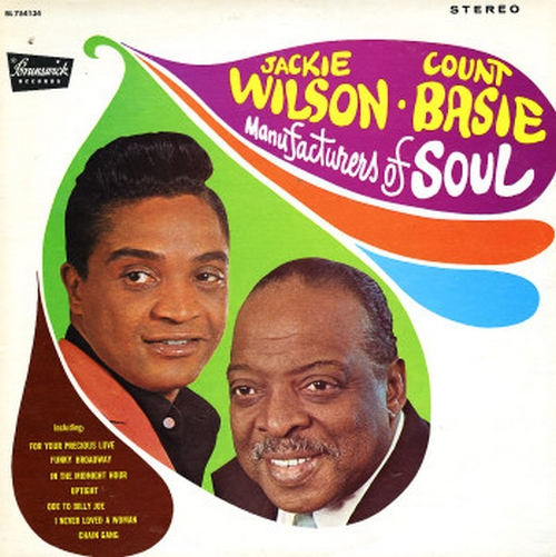 "Jackie Wilson & Count Basie : Album "" Manufacturers Of Soul  "" Brunswick ‎Records BL 754134 [ US ]"