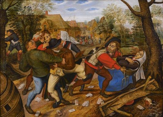 Rixe entre paysans - Bruegel le Jeune