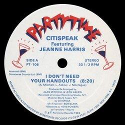 Citispeak Feat. Jeanne Harris - I Don't Need Your Handouts