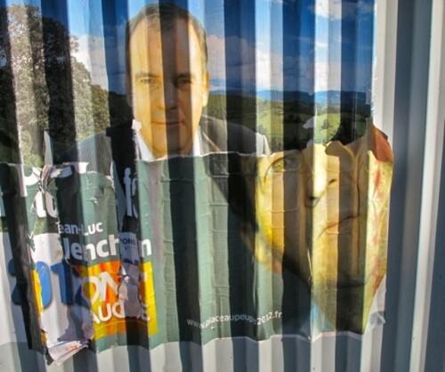 Affiche présidentielles 2012 front gauche Mélanchon Migue