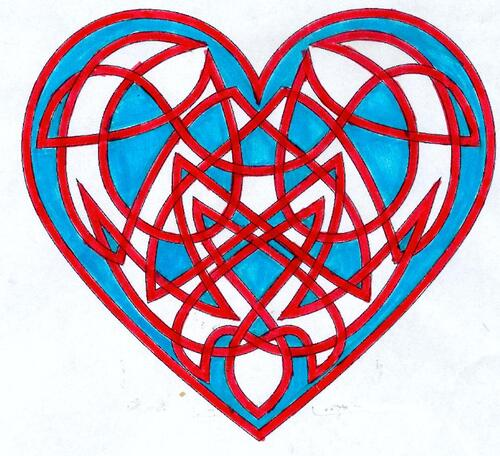DOMANDALAS  mandalas de la Saint-Valentin