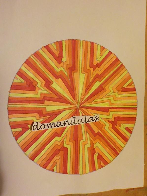 DOMANDALAS mandala du jaune, orange, rouge