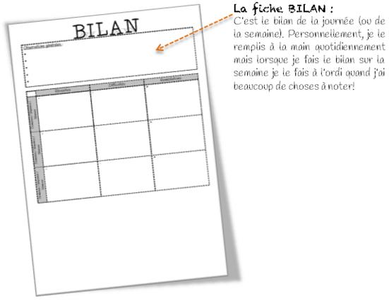 Cahier-journal et semainier : Formes modifiables