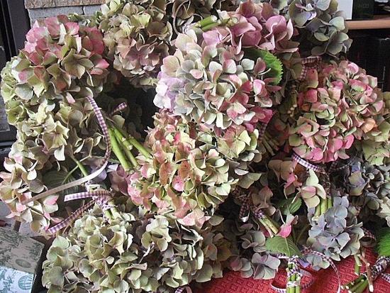 bouquets hortensia