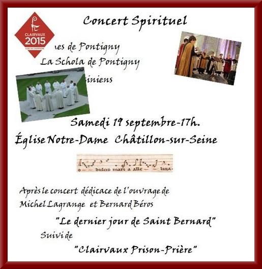 Et après avoir visité l'exposition dans l'église Saint-Pierre, assistez au concert des Ambrosiens et de la Schola de Pontigny !