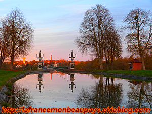 45-Le pont canal à Briare...un soir de novembre