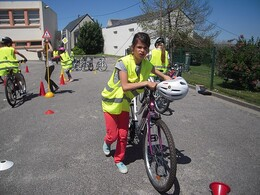 De bons cyclistes prudents !!