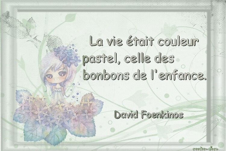 citation illustrée : pastel