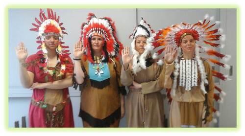 "Les indiens arrivent chez ""Les Petits Malins"""