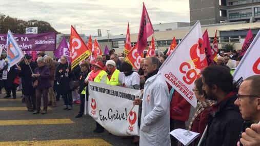8/11/2016-les personnels de santé dans la grève et dans la rue-compte rendu de la PQR