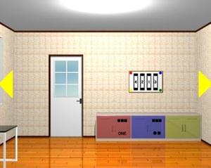 Jouer à Three colored shelves room escape