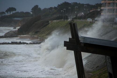 Mes dernières photos de la tempête au port de Comberge.
