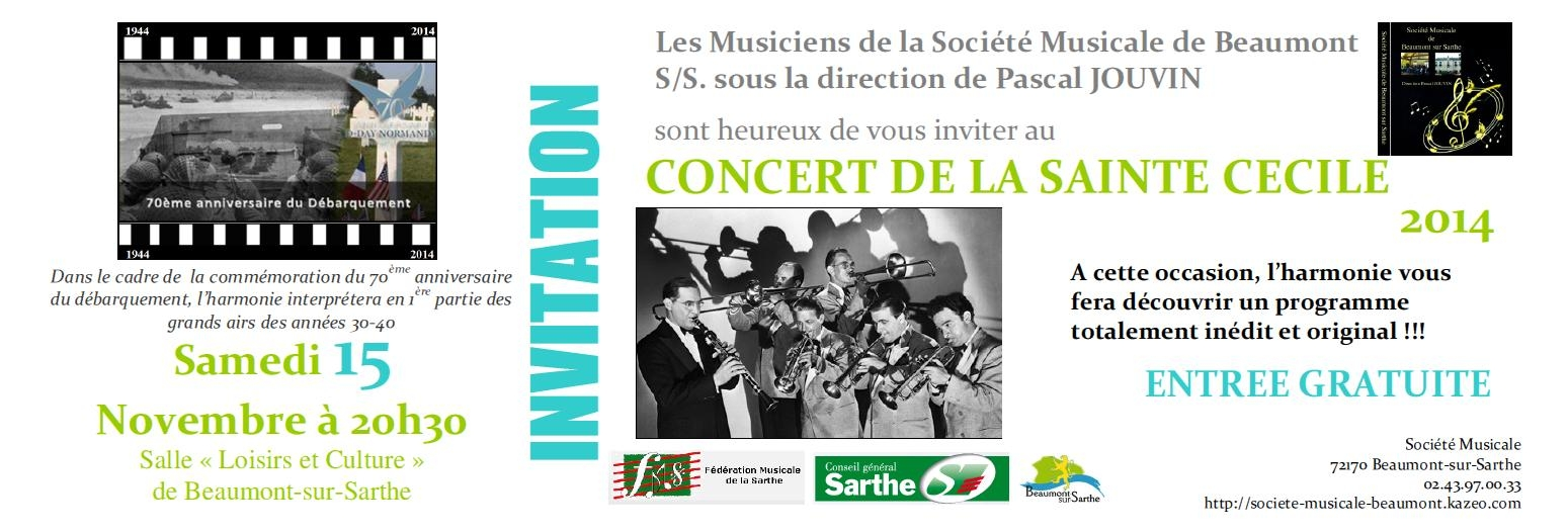 Invitation Ste Cécile 2014