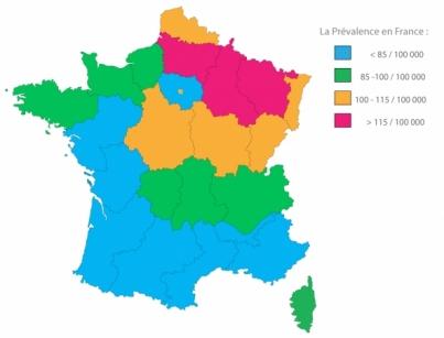 Prévalence de la SEP en France