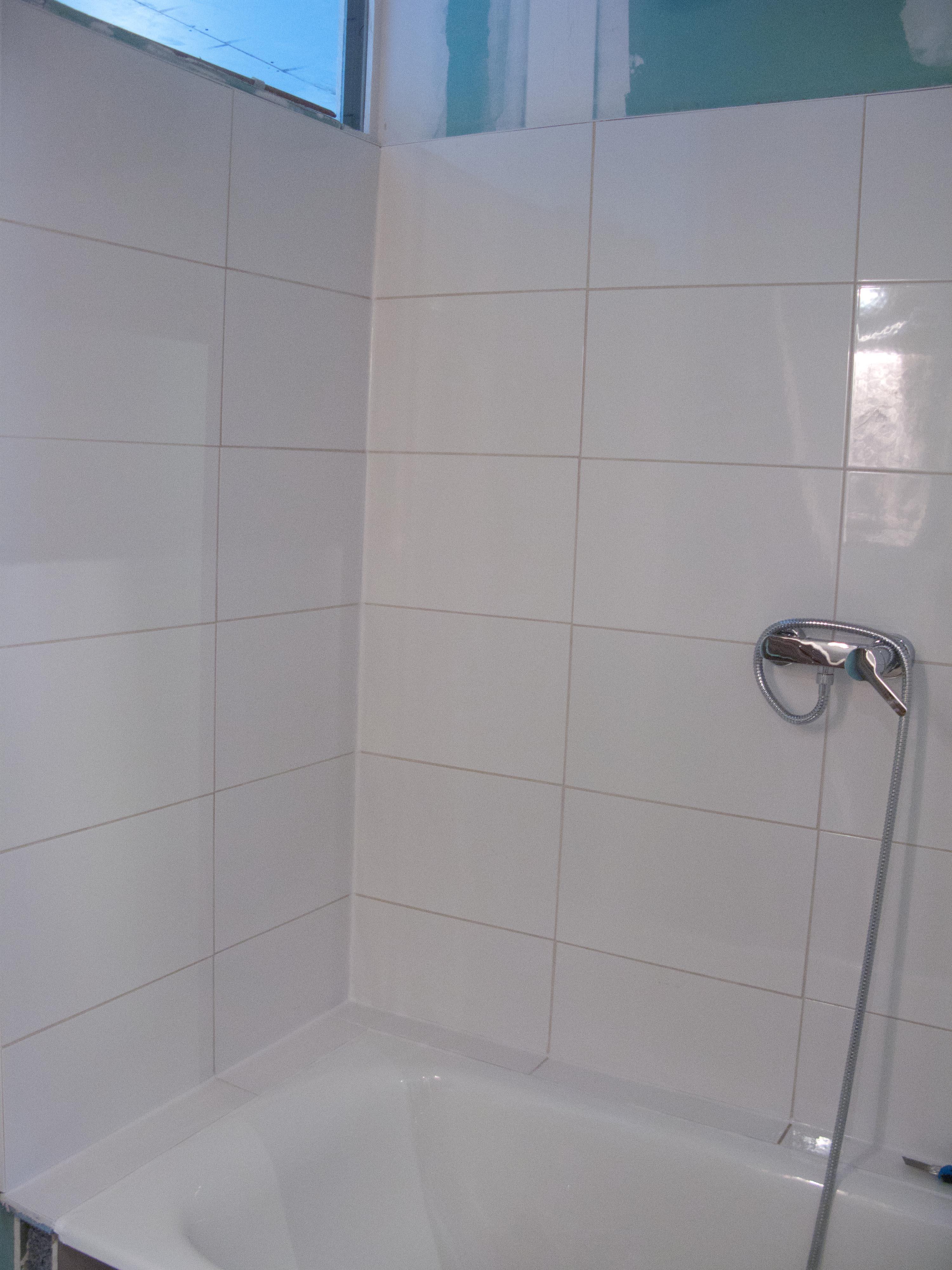 23 25 ao t salle de bains ragr age faux plafond et bandes de joints 2 r novons gaiement. Black Bedroom Furniture Sets. Home Design Ideas
