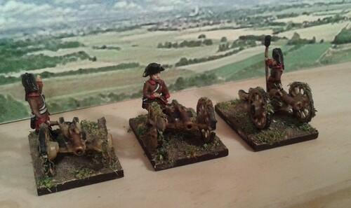 """Artillerie """"régimentaire"""" Autriche 1796"""