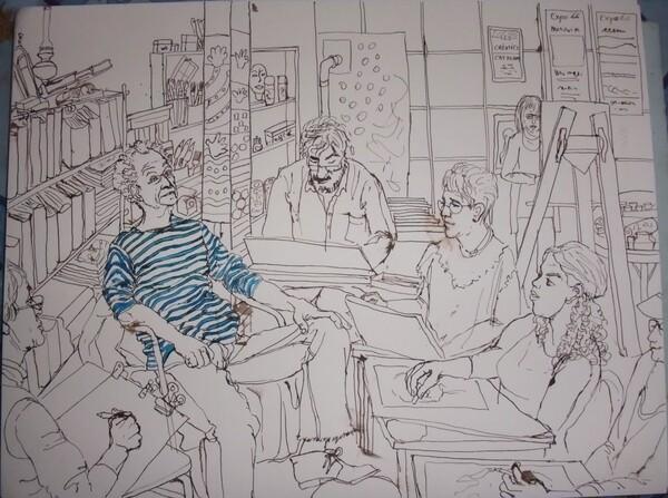 Lundi - Scène d'atelier : La marinière