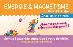 ÉNERGIE ET MAGNÉTISME, Anaé, Céline Cidère, graphisme, art-thérapie évolutive, Access Thérapie, Bars Access