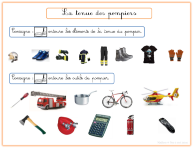 Pompiers : paperboard