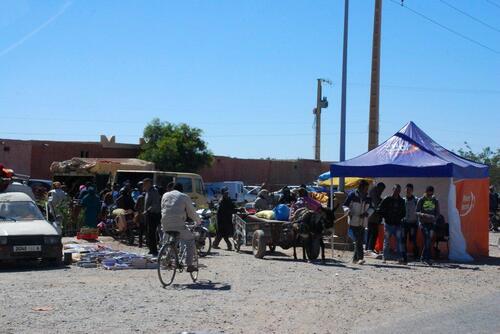 L'entrée du souk à Goulmima